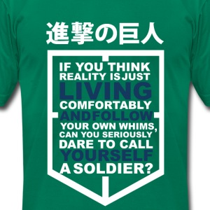 Eren Quote T-Shirts - Men's T-Shirt by American Apparel
