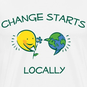 Change starts locally men's t-shirt - Men's Premium T-Shirt