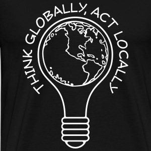 Think globally act locally men's t-shirt - Men's Premium T-Shirt
