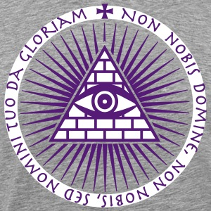 03 Eye of God non nobis domine 2c Knights Templar  - Men's Premium T-Shirt