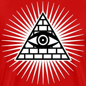 01 Eye of God Power Hipster Geek Icon Knights Temp - Men's Premium T-Shirt