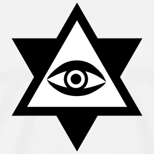 Eye of God  2c Knights Templar triangle Hipster Ge - Men's Premium T-Shirt