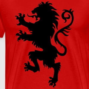 Lion wild heraldic animal King Luxury Armor 1c Kni - Men's Premium T-Shirt