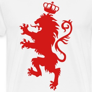 Lion Crusaders Crown King heraldic animal Knight - Men's Premium T-Shirt