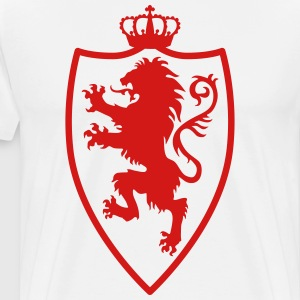 Lion Shield Crusaders Crown King heraldic animal - Men's Premium T-Shirt