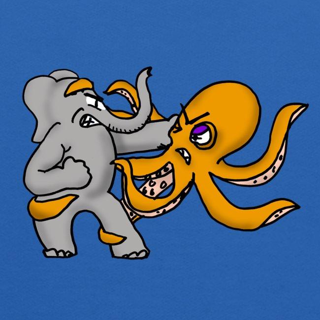 Elephant vs. Octopus Hoodie