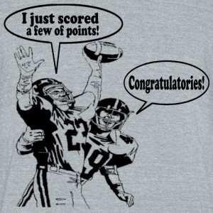 Football Score T-Shirts - Unisex Tri-Blend T-Shirt by American Apparel