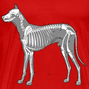 Dog Anatomy Skeleton T-Shirts - Men's Premium T-Shirt