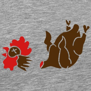 Cock Chicken Wings Broiler Cockfight vegetarian    T-Shirts - Men's Premium T-Shirt