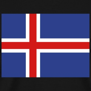 Flag of Iceland T-Shirts - Men's Premium T-Shirt