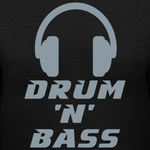 Drum 'n' Bass Music Women's T-Shirts - Women's V-Neck T-Shirt