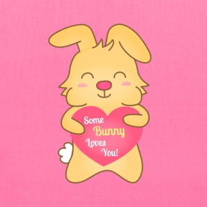 some bunny loves you, cute humor Bags & backpacks - Tote Bag
