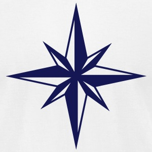Wind Rose Compass T-Shirts - Men's T-Shirt by American Apparel