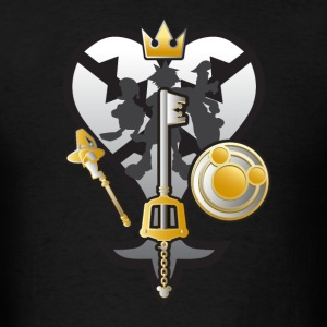 (Kingdom Hearts) All for One and One for All Silve T-Shirts - Men's T-Shirt