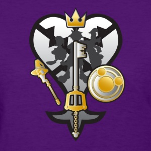 (Kingdom Hearts) All for One and One for All Silve Women's T-Shirts - Women's T-Shirt
