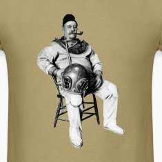 Vintage Diver with Diving Helmet and Pipe