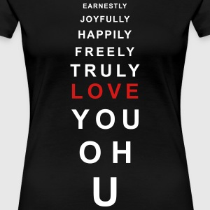 Earnestly joy fully happily Valentine Love Lovers  - Women's Premium T-Shirt