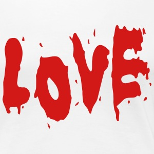 LOVE Broken Bleeding Heart heartbreak 2c Design Wo - Women's Premium T-Shirt