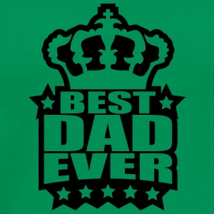Best Dad Ever King Logo T-Shirts - Men's Premium T-Shirt