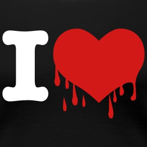 I love you Broken Bleeding Heart heartbreak Blood  - Women's Premium T-Shirt