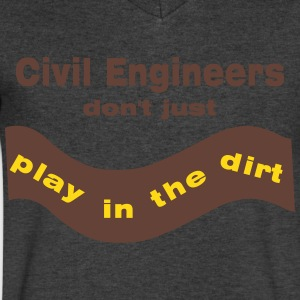 Civil Engineers Play T-Shirts - Men's V-Neck T-Shirt by Canvas