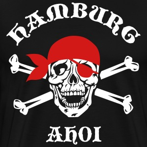 HAMBURG AHOI Skull Crossbones City Pirate Blood Ma - Men's Premium T-Shirt