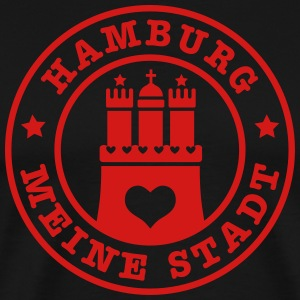 Hamburg meine Stadt Wappen City Country Heart Man  - Men's Premium T-Shirt