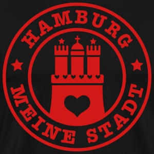 Hamburg meine Stadt Anker Anchor Heimat Home Heart - Men's Premium T-Shirt