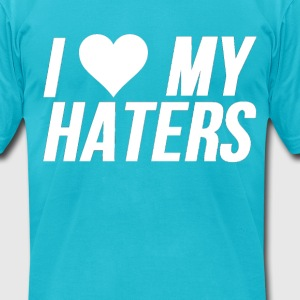 I Love Haters - Men's T-Shirt by American Apparel