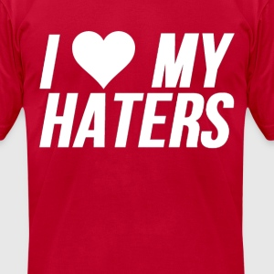 Valentines Day I Heart My Haters - Men's T-Shirt by American Apparel