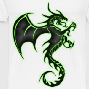 Dragon Green Glow - Men's Premium T-Shirt