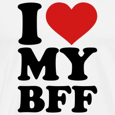 I love my best Friend forever bff T-Shirts