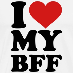 I love my best Friend forever bff T-Shirts - Men's Premium T-Shirt