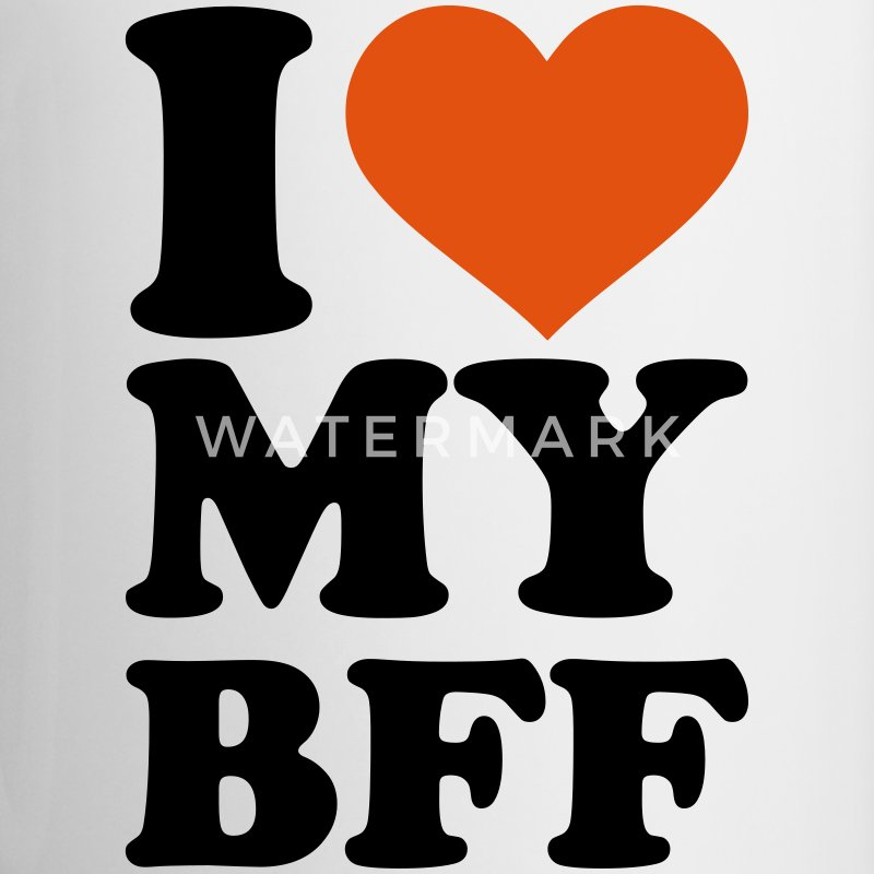I love my best Friend forever bff Accessories - Contrast Coffee Mug