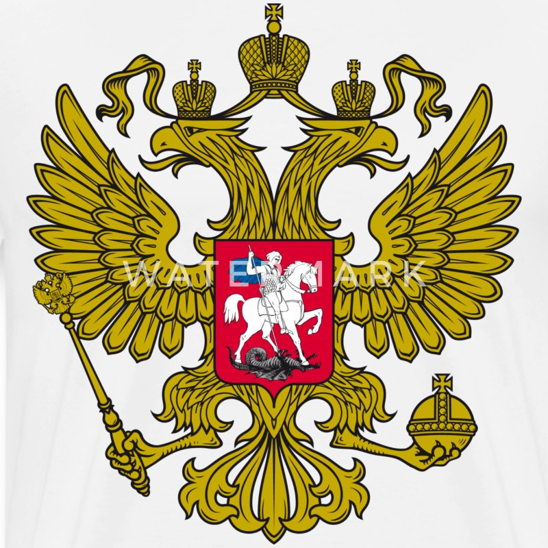 Gerb Gold Coat of Arms of Russia Россия Eagle T-Shirt ...