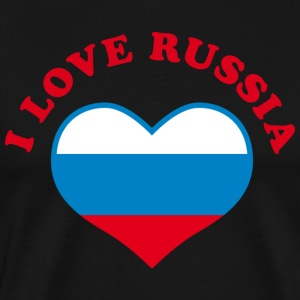 Я люблю Россию I love Russia Heart Tee - Men's Premium T-Shirt