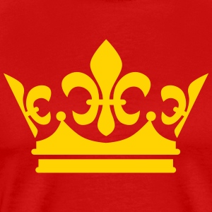 Crown King Queen Princess Gold 1c Design men's T-S - Men's Premium T-Shirt