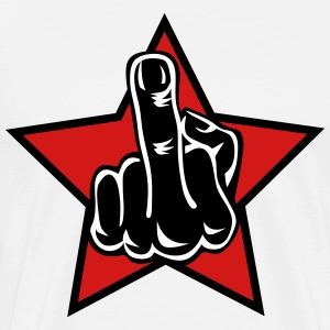 Middle Finger Stinkefinger Hand Star insult 3c Des - Men's Premium T-Shirt
