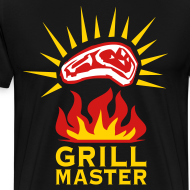 Design ~ Grill Master Barbecue BBQ grilled delicious meat 3c Design men's T-Shirt