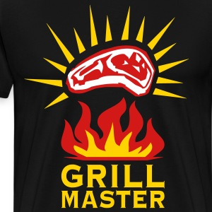 Grill Master Barbecue BBQ grilled delicious meat 3 - Men's Premium T-Shirt