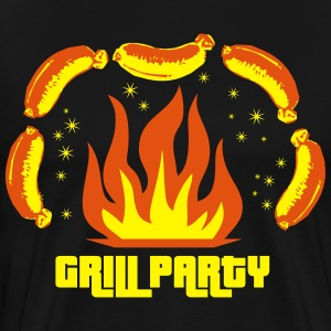 Grill Party Master Barbecue BBQ grilled delicious  - Men's Premium T-Shirt