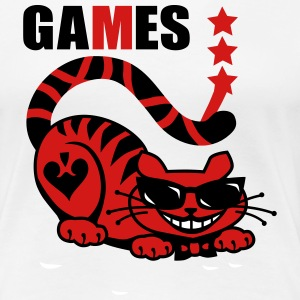 Crazy Red Cat Games Blood sunglasses Star Design L - Women's Premium T-Shirt