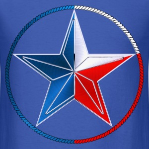 Red White & Blue Texas Lone Star - Men's T-Shirt