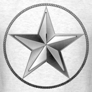 Silver Lone Star - Men's T-Shirt