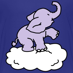 Happy Elephant on cloud (3 colors) Baby & Toddler Shirts - Toddler Premium T-Shirt