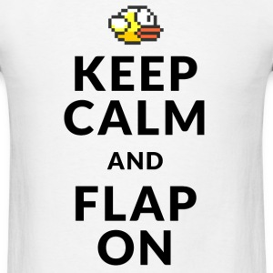 Flappy Bird T-Shirts - Keep Calm and Flap On T-Shirts - Men's T-Shirt