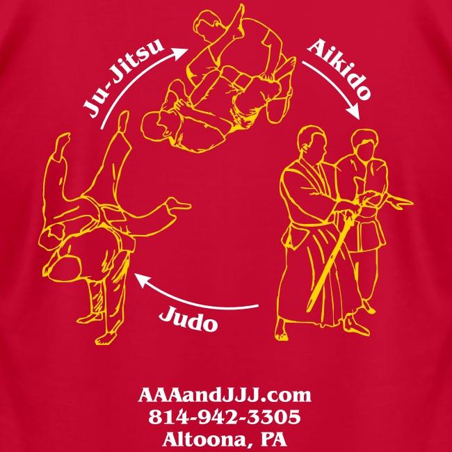 Men's American Apparel t-shirt white/gold logo white/gold artwork