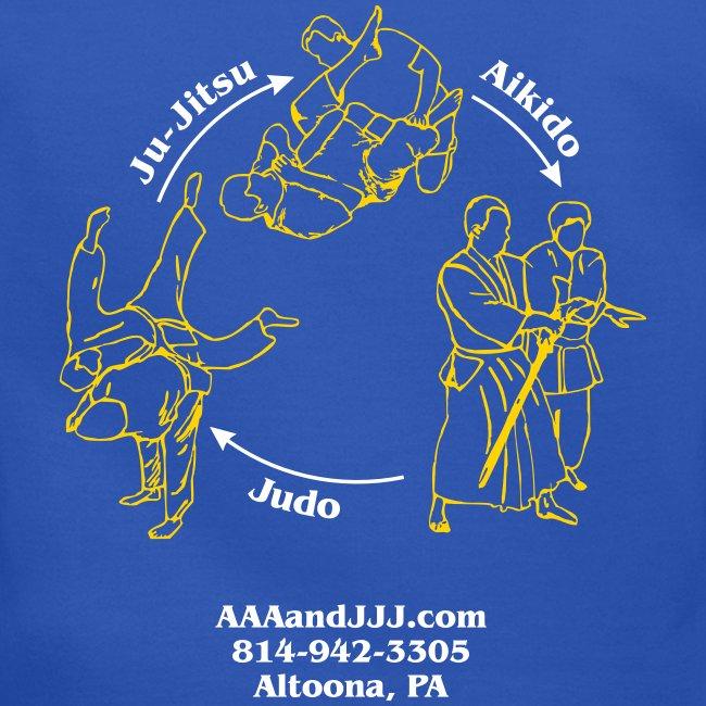 Men's crewneck sweatshirt white/gold logo white/gold artwork