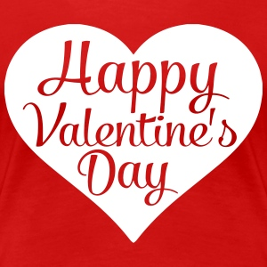 happy valentines day heart Women's T-Shirts - Women's Premium T-Shirt
