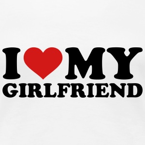 I love my girlfriend Women's T-Shirts - Women's Premium T-Shirt